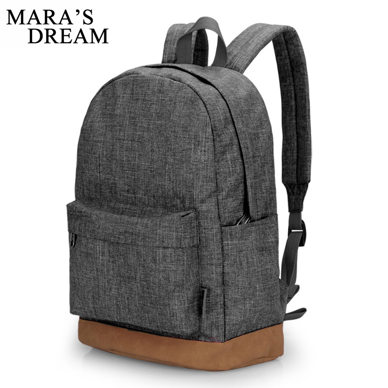 Mara's Dream 2018 Men Male Canvas Candy Color Big Capacity College School Student Backpack Casual Rucksacks Travel Bag Gray pretty style pure color canvas women backpack college student school book bag leisure backpack travel bag