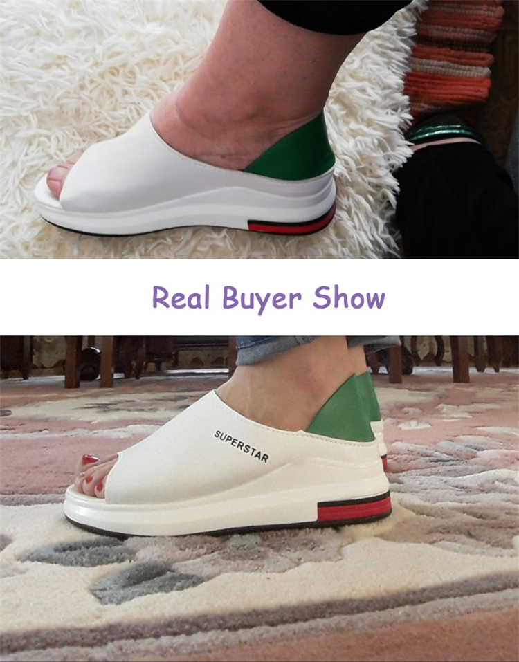 HTB142cMUhTpK1RjSZFMq6zG VXaY 2019 New Fashion Women Sandals Summer Platform Sandal Shoes Woman Peep Toe Leather Beach Flat Casual Sandalias Mujer Plus Size