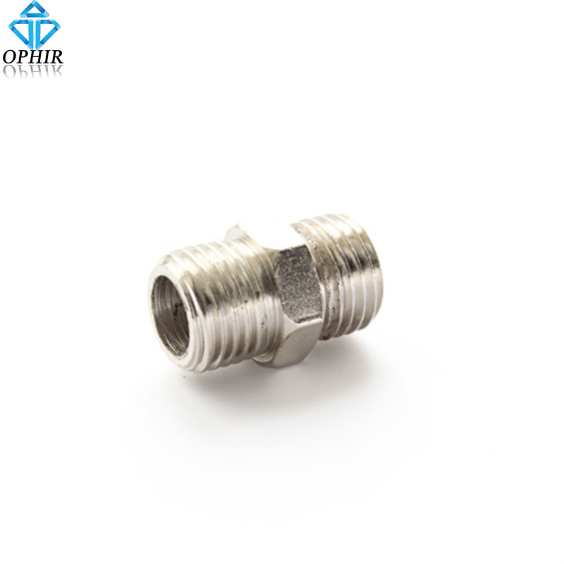 OPHIR 1/4BSP female--1/4BSP male Air Hose to Badger Airbrush Adapter Airbrush Accessory _AC032 kkmoom high quality 3 way airbrush air hose splitter aerografo accessories with 1 4 bsp female inlet 1 8 bsp male air outlet
