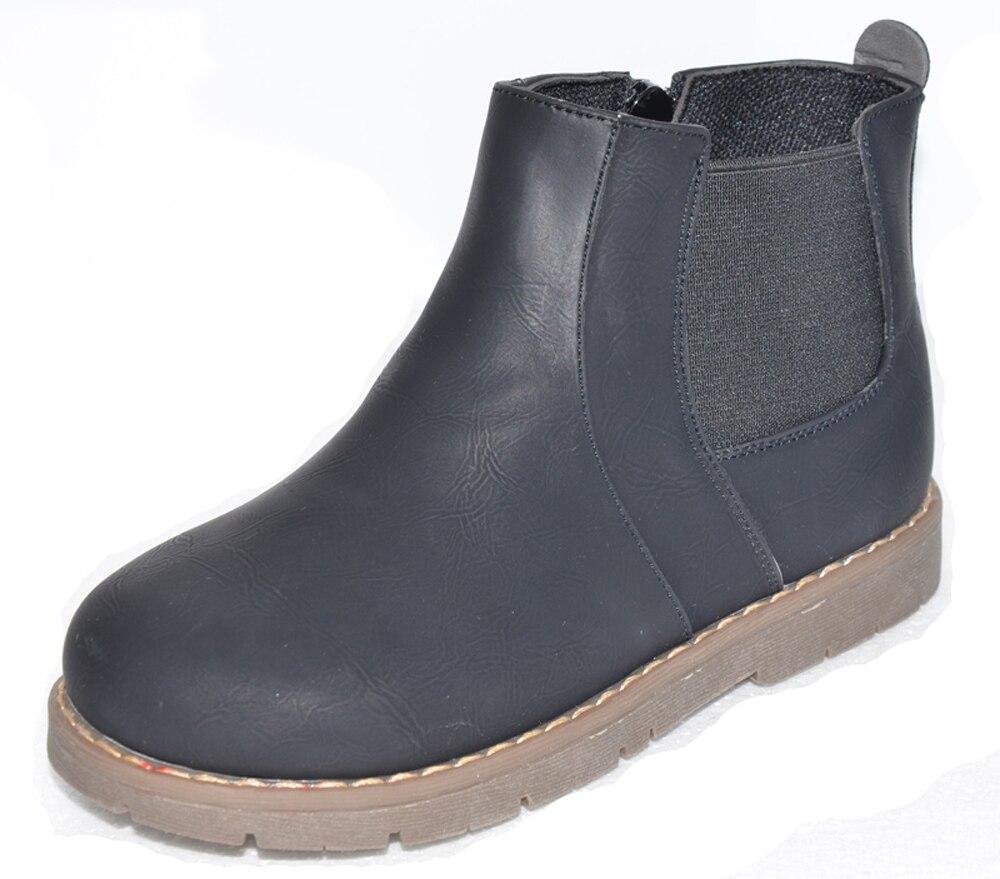Novo! Calçados infantis meninos sapatas dos miúdos botas chaussure menino sapato bota preta para o outono primavera do bebê SandQ hard & toe calcanhar antiderrapante