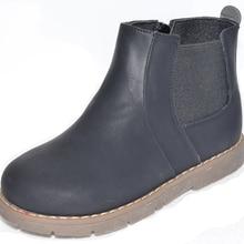 Новинка! Детская обувь Для маленьких мальчиков обувь для женщин; chaussure menino sapato ботинки черного цвета для Осень-весна sandq детский жесткий носок и каблук с нескользящей подошвой для пар
