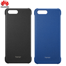 Original Huawei honor Oficial V10 PC Duro Caso Magnetic PU Capa De Couro de Volta Shell Caso para honor V10 Vista 10