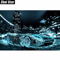 Water Car 45x30 Needlework Square Embroidery Diy Diamond Painting Drill Rhinestone Full Pasted Pattern Decoration Paintings