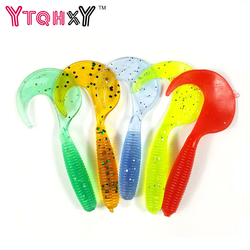 5pcs/lot Wobbler Jigging Fishing Lure Soft Worm Shrimp 2g 6.5cm silicone bait Fish Ocean Rock fishing tackle YE-264
