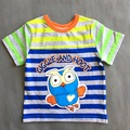 2016 summer Giggle and Hoot baby boys cotton T-shirts children short sleeve t shirt striped clothes tees owl tops for kid child