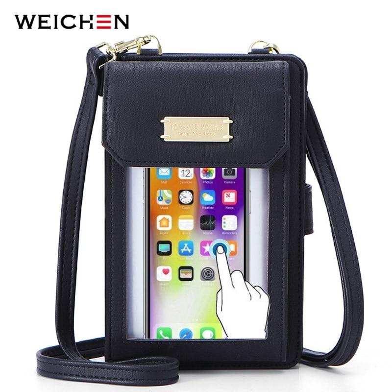 WEICHEN Mini Crossbody Shoulder Bags Women Multi functional Cell Phone Pocket Card Purse Ladies Small Bag Female Messenger Bag|Shoulder Bags|   - AliExpress