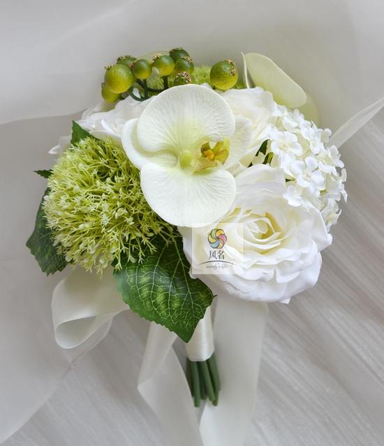 Small Bridesmaid Bouquet Bruidsboeket Flower Girl Bouquet Wedding Bouquet  Cheap Artificial Wedding Flowers In Stock 2017