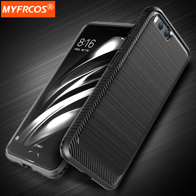 Case For Xiaomi mi6 luxury Wire drawing TPU Cover Full Protection Soft Cases for xiaomi 6