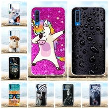 For Samsung Galaxy A50 Case Soft TPU Silicone SM-A505F Cover Cartoon Patterned Bag