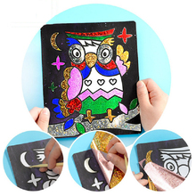 Children Magic Color Paper Art Craft DIY Toy Kids Drawing Board Educational Toys For