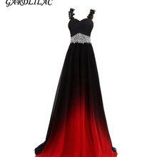 Gradient Chiffon Evening Dresses Vestido Longo Beaded Prom Dress