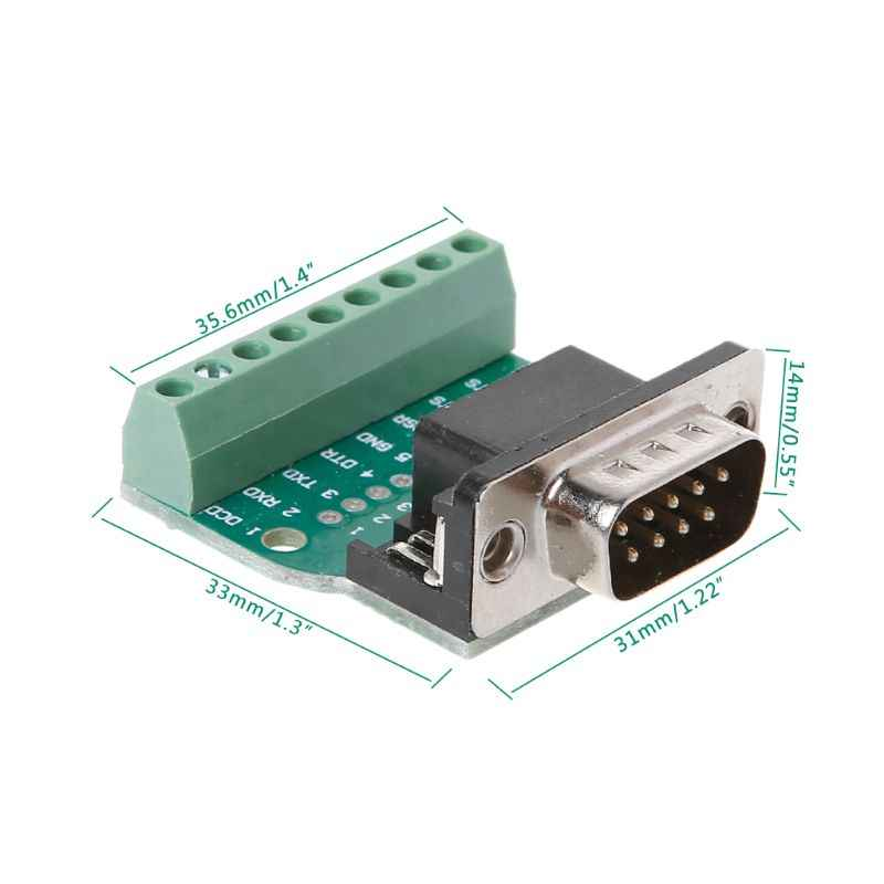 DB9 男性/女性 D-SUB アダプタプレートコネクタ RS232 シリアル端子台信号モジュール