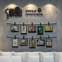 2017 New 3D Stereo Camera Pattern Photo Stickers Acrylic Bedroom Wall Decoration Wall Photo Background And
