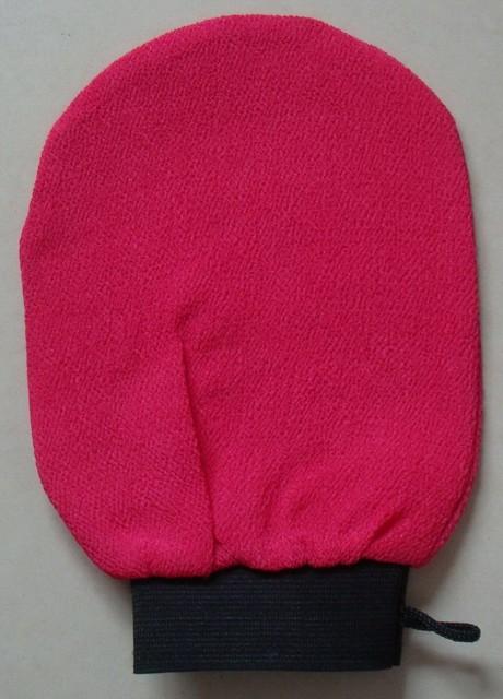Il trasporto libero 1 pz/lotto rosa marocco hammam scrub guanto, magic peeling g