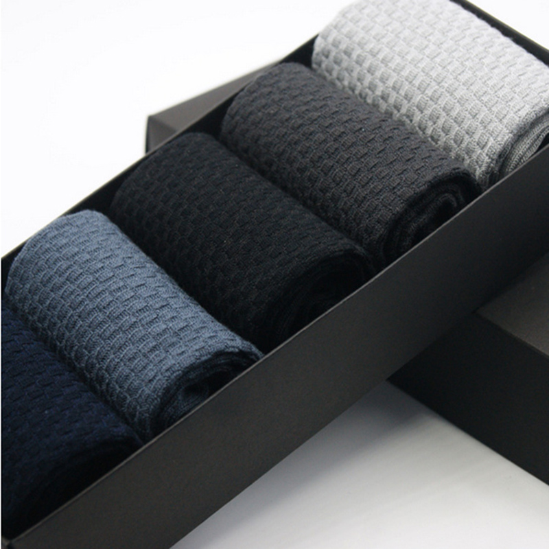 Men Bamboo Fiber Socks Brand New Casual Business Anti-Bacterial Deodorant Breatheable Man Long Sock 5pairs =10 Pieces