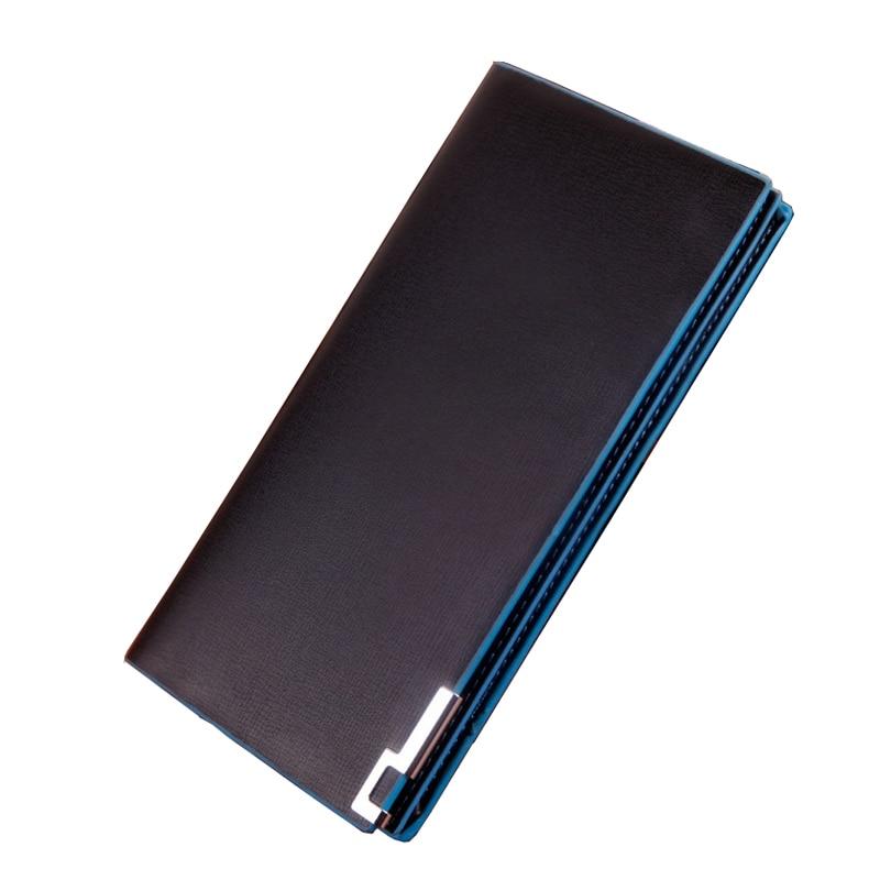 New 2018 New Fashion Men PU Wallets Long Design Metal Wallet Money Purse Clutch Bag Card Holder Carteira Masculina