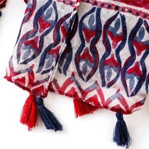 Image 5 - Женский шарф, шаль из Испании, этническая искусственная шаль, шарф из индийского этнического принта, шарф из пашмины, мусульманская искусственная шаль