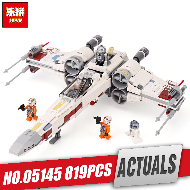Lepin 05145 Star Series Wars The Legoinglys 75218 X-wing Star Plan Fighter Building Blocks Bricks Toys Christmas Birthday Gifts new 1685pcs lepin 05036 1685pcs star series tie building fighter educational blocks bricks toys compatible with 75095 wars