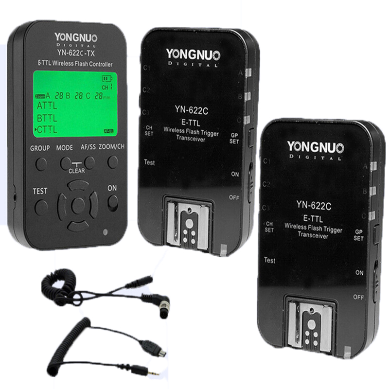 YONGNUO Wireless TTL Flash Trigger YN622 YN-622C II C-TX KIT with High-speed Sync HSS 1/8000s for Canon Camera 500D 60D 7D 5DIII yongnuo yn 622c yn 622c tx kit wireless ttl hss flash trigger for canon 1200d 1100d 1000d 800d 750d 650d 600d 550d 500d 5d ii
