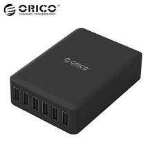 ORICO DCAP USB Charger 5V 2.4A 6 Ports 50W Universal Desktop Travel Charger for Samsung Galaxy S7/S6/Edge,LG,Xiaomi,iPhone(China)