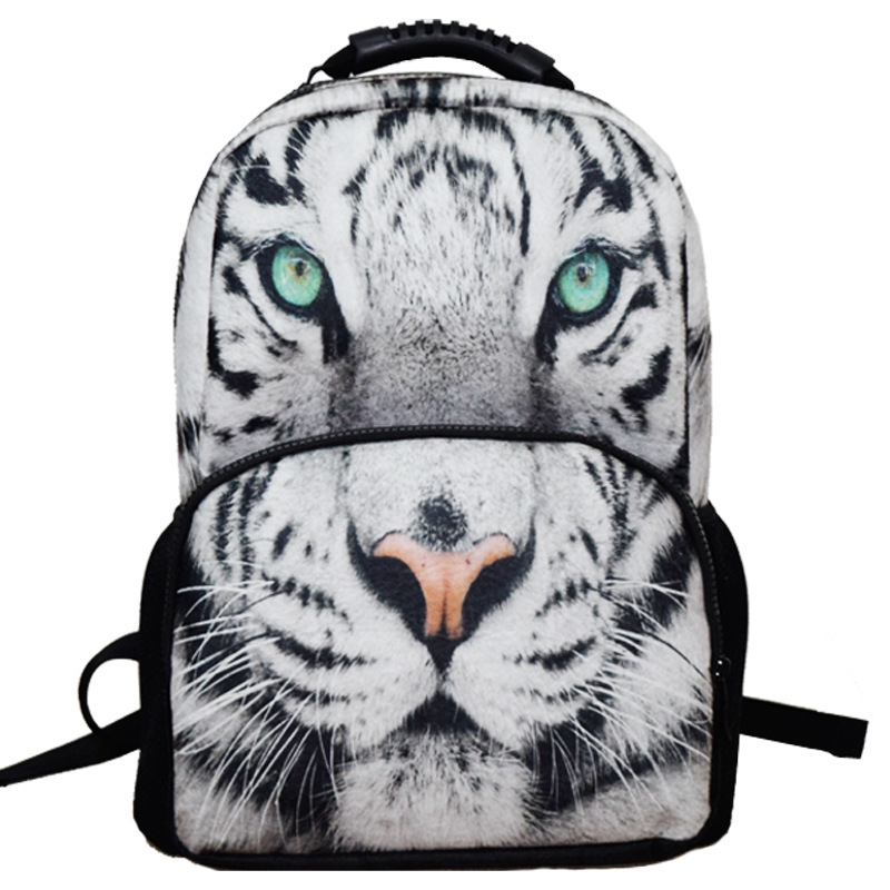 fashion 3D Tiger Backpack men Animal school Bags for Boys Girls Tiger head  Schoolbag Animal Prints primary school child bookbags-in Backpacks from  Luggage ...