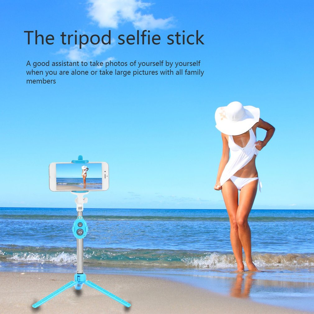 4 in 1 Wireless Bluetooth Selfie Stick Remote Shutter Handheld Cellphone Selfie Stic Monopod Tripod Holder