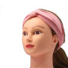 все цены на New Fashion Women Headbands Turban Summer Hair Accessories for Women Hair Bands Elastic Headband Cross Turban Head Wrap Headwear онлайн