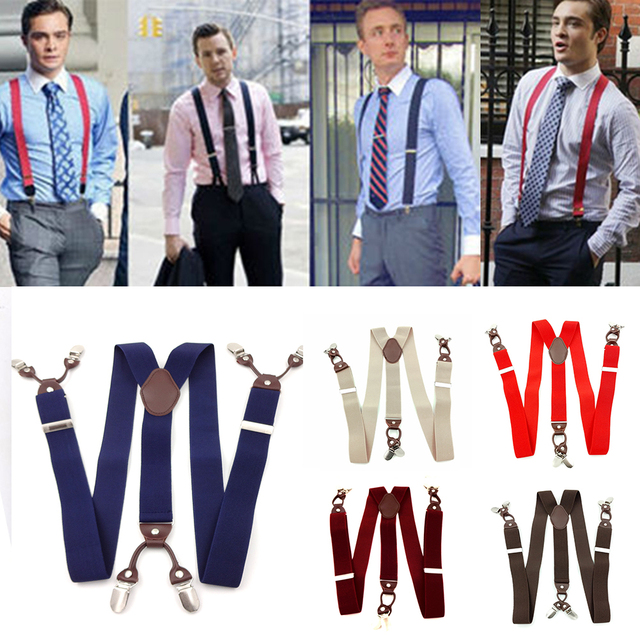 6 Clips Casual Suspenders 6