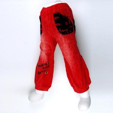 Girls Red Bloomers letters flowers Embroidery Harem Teen  Trousers Children outerwear infant kid casual Capris costumes MH8784