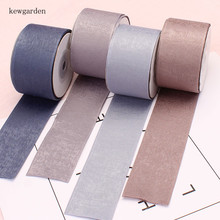 Kewgarden 40mm 25mm 10mm Double Face Thick Velvet Satin Ribbons Handmade Tape DIY Bowknot Ribbon Riband Packing Ribbon 5 meters kewgarden handmade tape 1 1 2 38mm thick soft cotton fabric satin ribbon diy bow tie brooch ribbons double face riband 8 meter