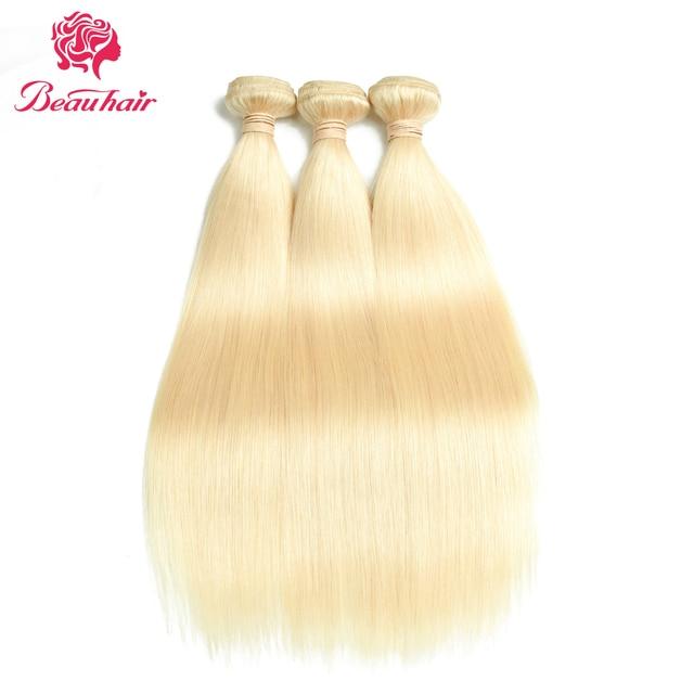 Beau Hair Brazilian Straight Hair Weave 613 Blonde Non Remy Hair 3