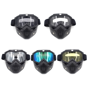 Image 2 - Safety Goggles Face Mask Windproof Dustproof UV protection Eyewear Mask Removable Bicycle Motorcycle Tactical Goggles Masks