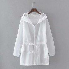 цена на Summer Women Cardigan Women Sunproof Jacket Transparent Bomber Jacket