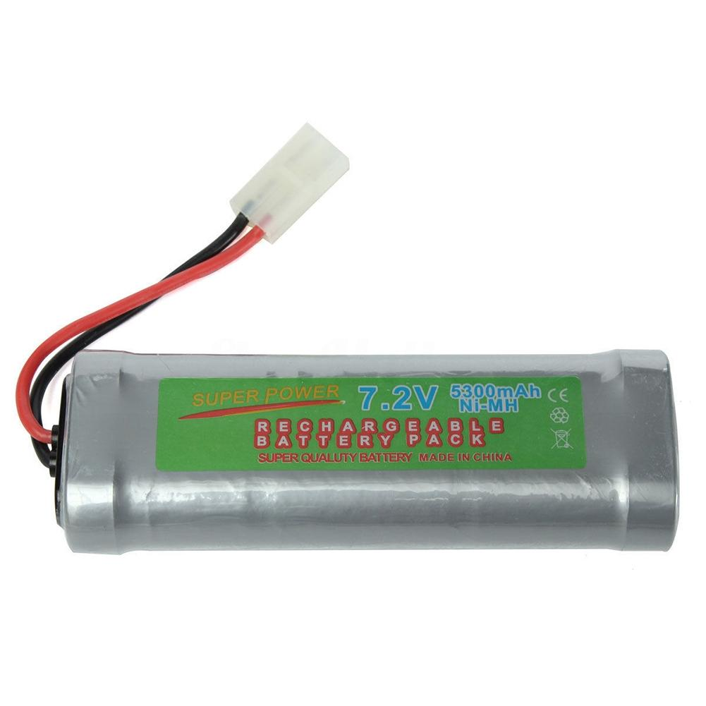 LeadingStar 7.2V 5300mAH NI-MH Rechargeable Battery Pack Durable Exquisite Large Capacity  for RC Car Boat Electric Model Toys 3 6v 2400mah rechargeable battery pack for psp 3000 2000