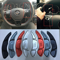 Aluminum Steering Wheel Gear Shift Peddle Shifter For VW Volkswagen Golf 7 Golf7 Paddle Gearbox Accessories Styling Sticker Pad