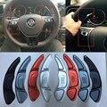 Trafican Volante de aluminio Del Cambio de Engranaje Shifter Para VW Volkswagen Golf 7 Golf7 Paleta Caja de Cambios Accesorios Styling Sticker Pad