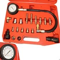 New 19 Pcs Cylinder Pressure Meter Diesel Engine Compression Testing Gauge Kit Tu15