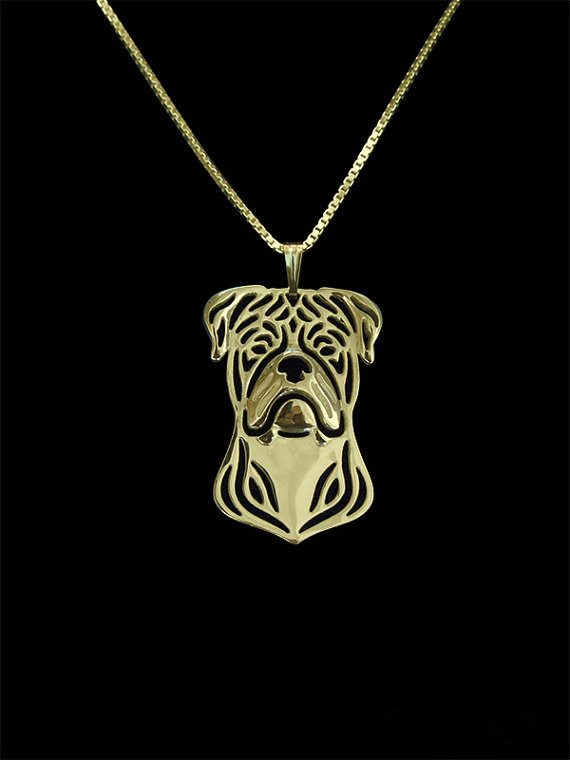 2016Trendy cute American bulldog dog pendant necklace women gold silver statement necklace men animal jewelry cs go collares
