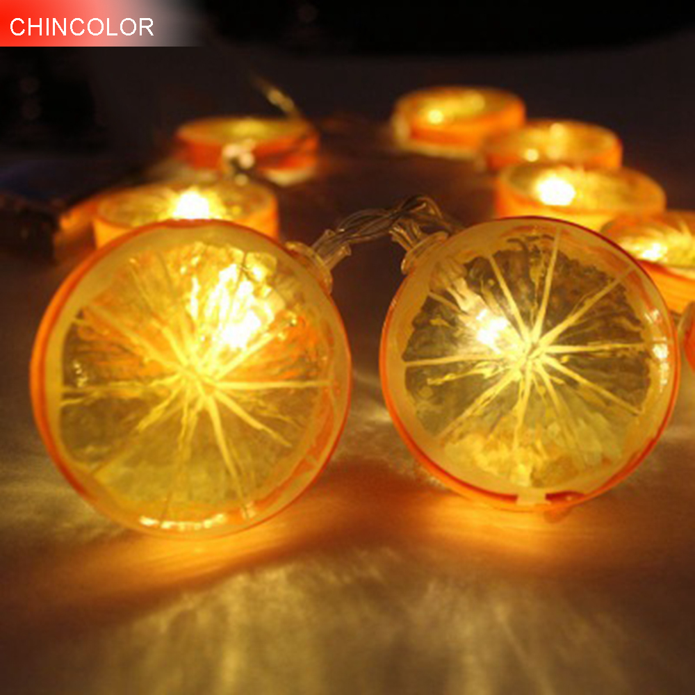1.2/2.2m 10/20leds Holiday lights Cute Lemon Led Light string Battery Operated Xmas christmas valentine Day fairy decoration DA