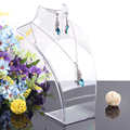 High Quality Clear 1 Set 10 Pcs Necklace Stand Pendants Holder Jewelry Organizer Neck Bust Shelf Decoration Free Shipping