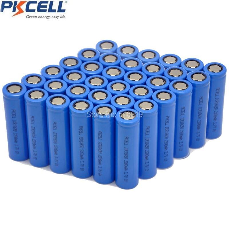 Prix pour 36 x ICR18650 18650 3.7 v 2200 mah 2200 mah 3.7 v bateria li-ion batterie rechargeable Flat Top