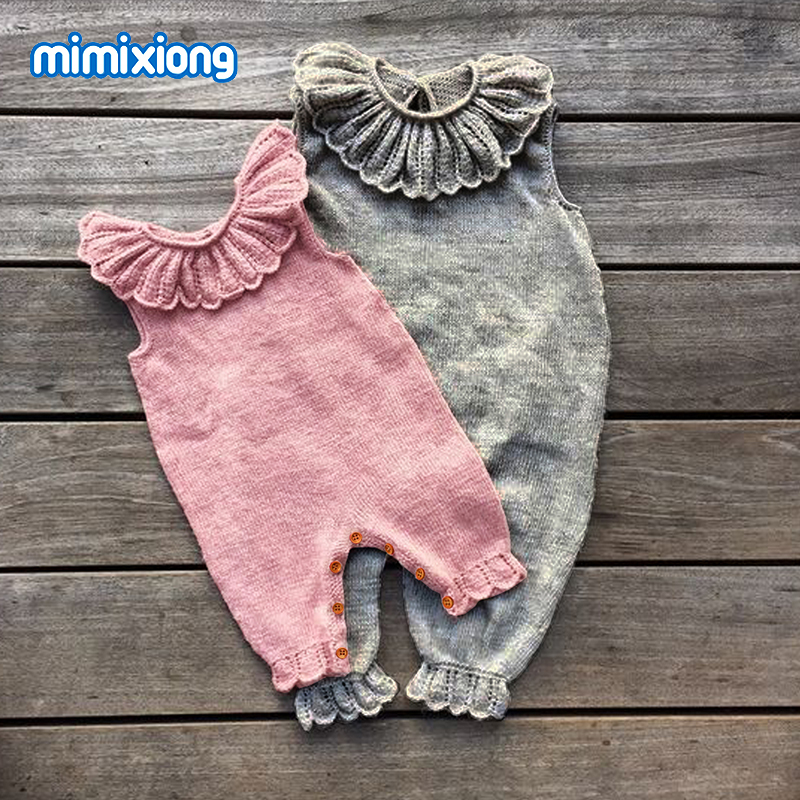 Baby Lotus Leaf Collar Bodysuit Jumpsuit Outfit Pink Sleeveless Toddler Girls Onesie Summer Outerwear Infant Kids One Piece Wear stylish round collar sleeveless lace spliced women s jumpsuit