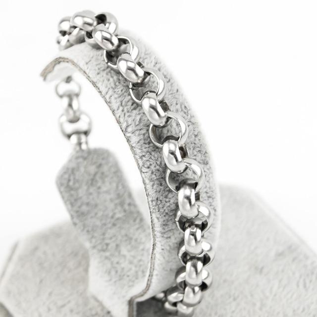 10mm ze stali nierdzewnej Big Rolo krzyż Link bransoletki i łańcuszki na rękę mężczyźni Punk Rock grube nadgarstek ręcznie akcesoria prezent dla mężczyzn mąż 20 sztuk