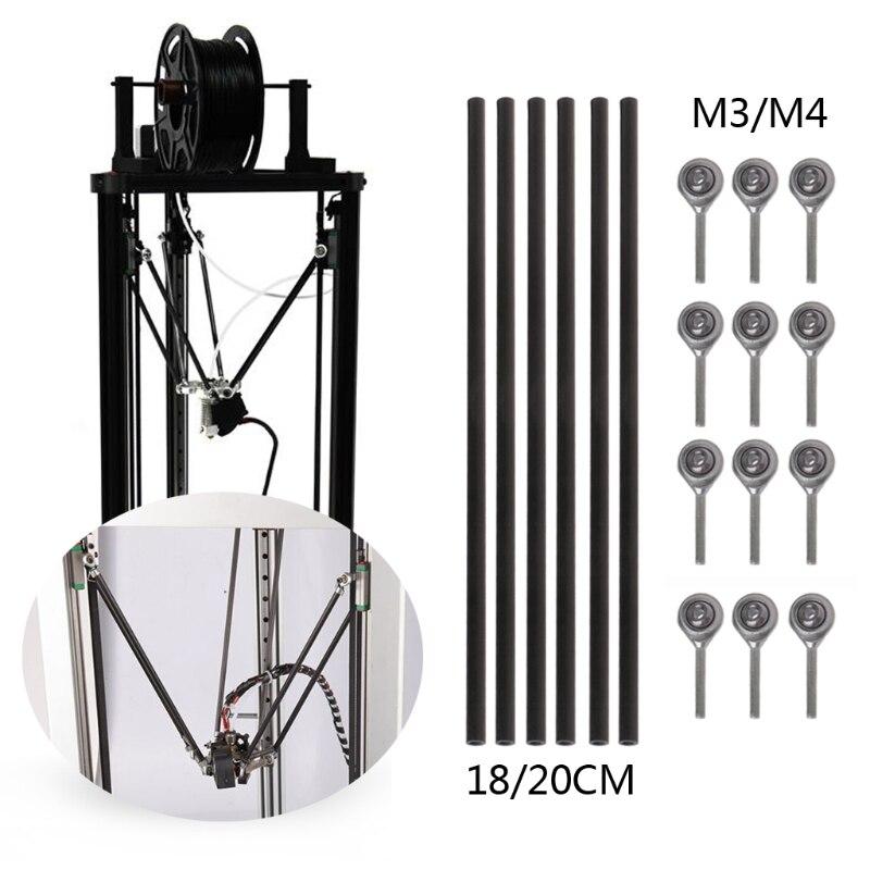 1000 mm 2 pieces Ø 4mm x 1000mm Carbon Fiber Solid Rod Round Bar Pin 4