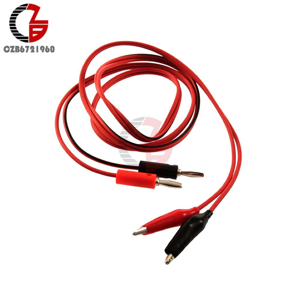 1 מטר אליגטור קליפ תנין עופרת מבחן קליפ כדי בנא Plug כבל מחבר חשמל מהדק חוט מגשר עבור מודד