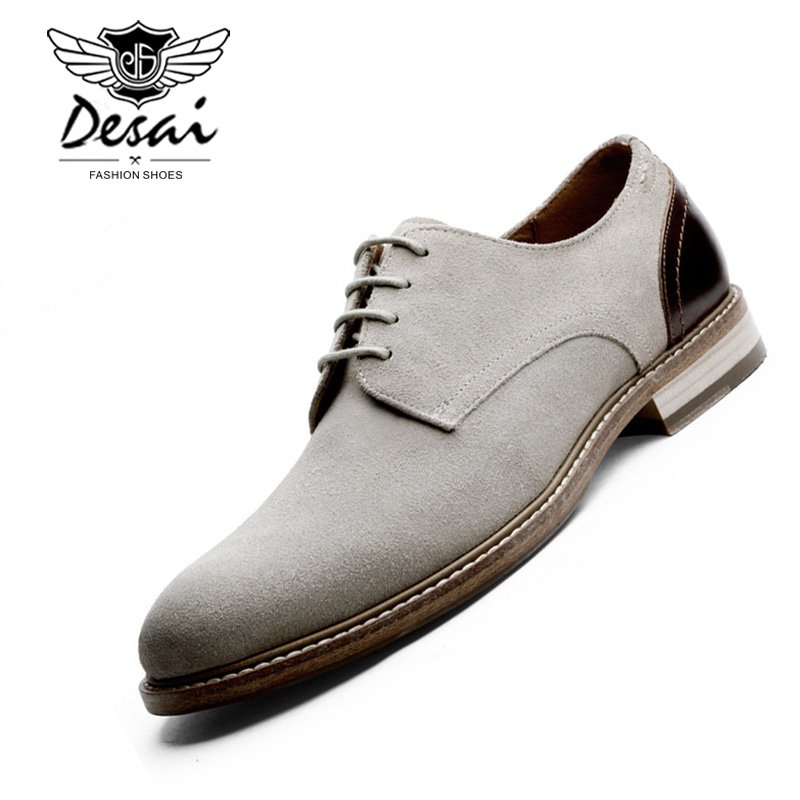 Desai 브랜드 남자 옥스포드 정품 스웨이드 가죽 남성 캐주얼 신발 봄 가을 여름 패션 옥스포드 신발 남성용-에서옥스퍼드화부터 신발 의  그룹 2