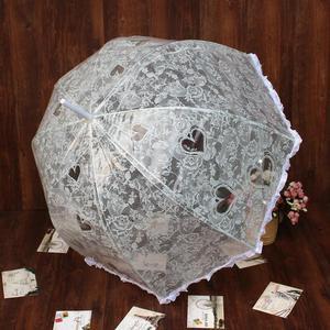 Image 4 - Parapluie en dentelle blanche à Long manche