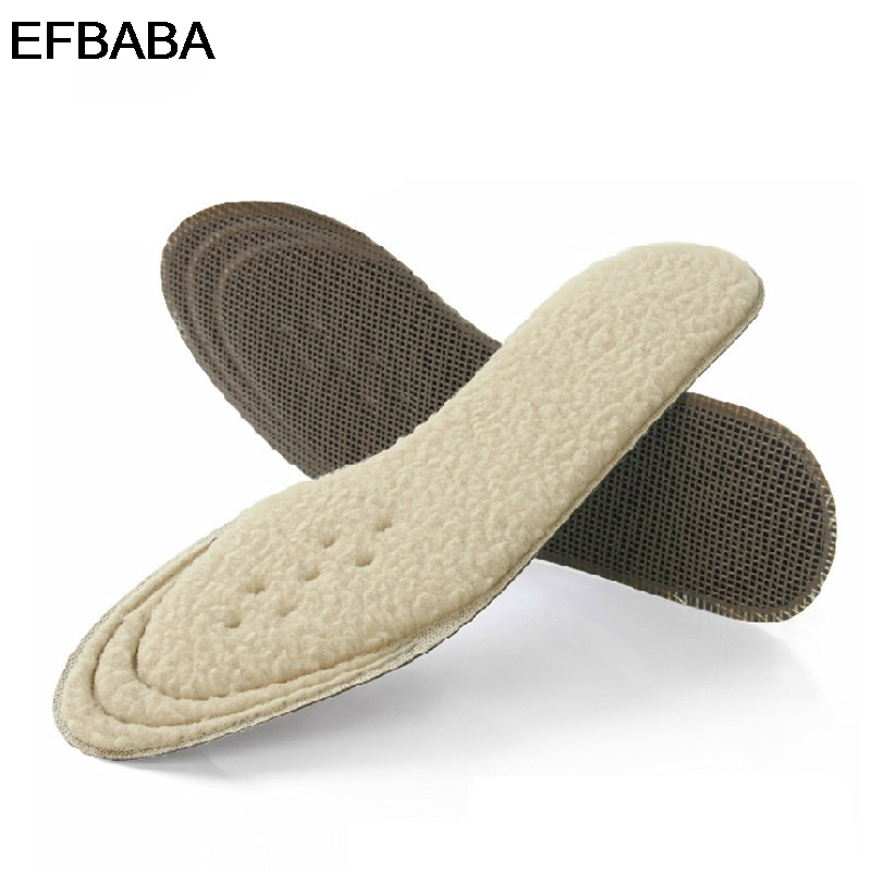 EFBABA Winter Warm Insole Bamboo Charcoal Deodorant Shoe Pad Sweat Absorbent Velvet Insoles Men Women Shoes Accessories Inserts