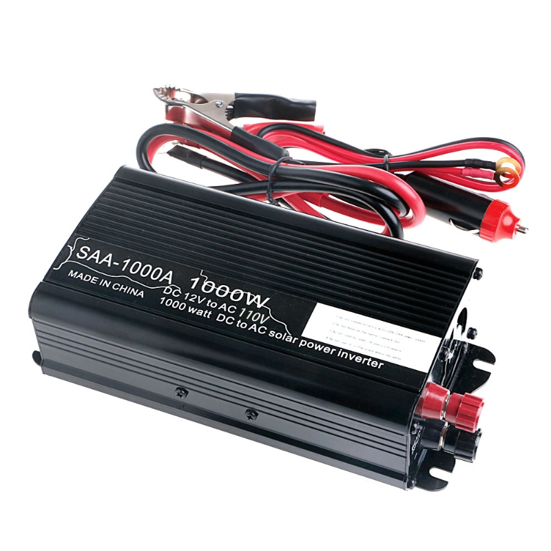Car Power <font><b>Inverter</b></font> DC <font><b>12V</b></font> to AC 110V <font><b>1000W</b></font> Vehicle USB Adapter Converter Car <font><b>Inverter</b></font> Power Supply Switch On-board Charger G6KC image