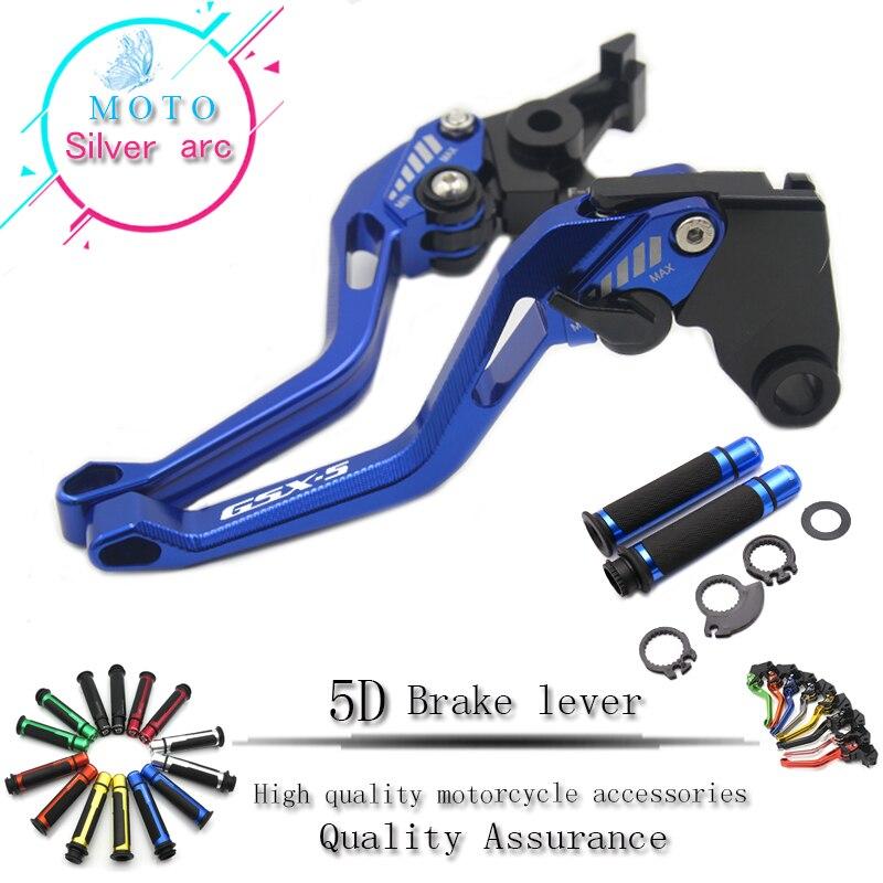 Pour SUZUKI GSXR600 GSXR750 2004-2005 GSX-S1000/F/ABS 15-17 leviers d'embrayage de frein pliants poignées de guidon de moto 5D 1 Set